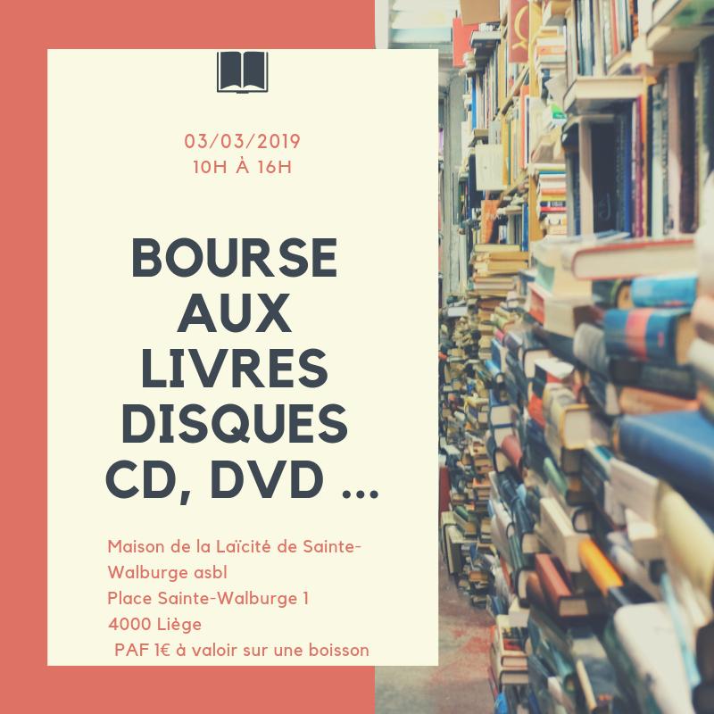 Bourse aux livres disques cd, dvd ...